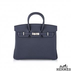 Hermès Unworn 25cm Bleu Nuit Veau Togo Birkin Bag